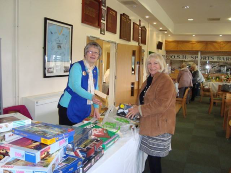 sue on the book stall