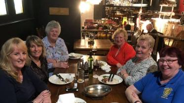 Our Warsop members attending a Sunday evening pre conference meal at le Monde, Cardiff